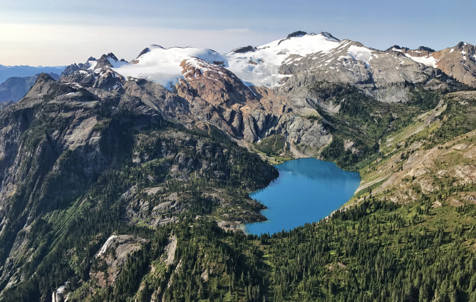Aerial Photo of Alpine Lake taken with an iPhone