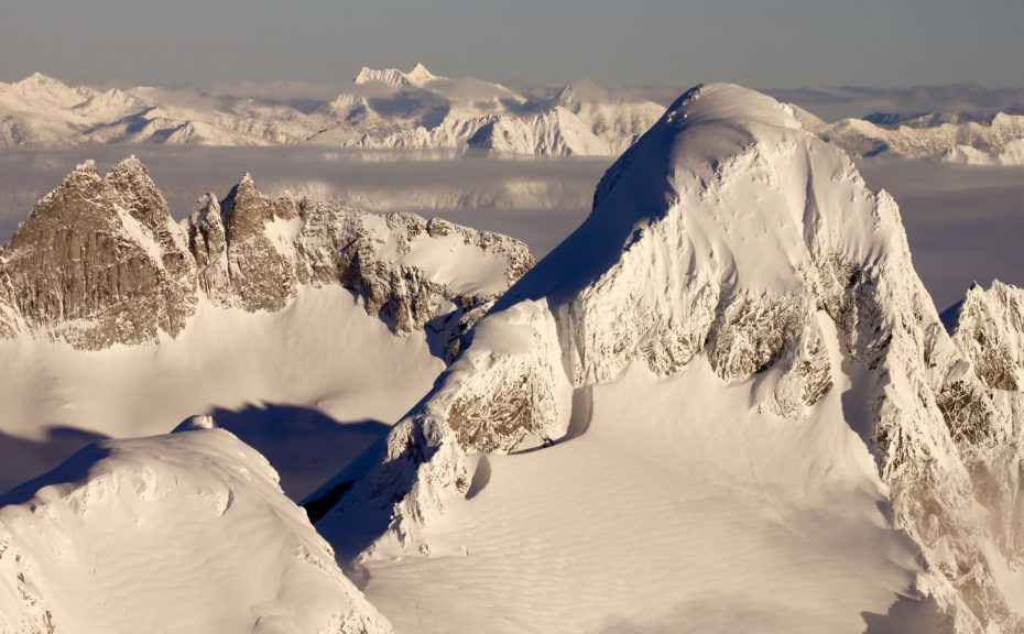 Aerial Photo of Winter Rime in the North Cascades